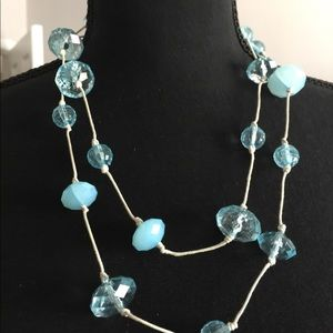 Blue Double-string Necklace